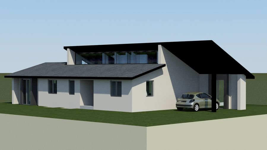 Architecture House EU royalty-free 3d model - Preview no. 1