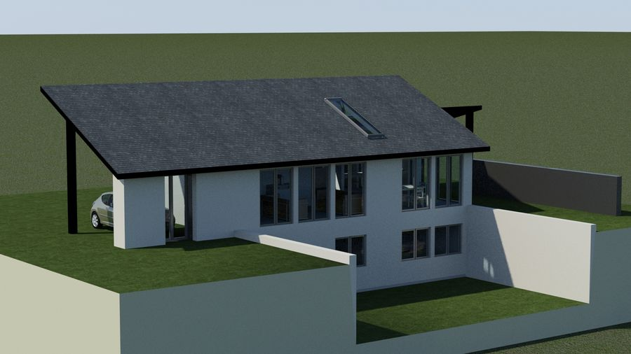 Architecture House EU royalty-free 3d model - Preview no. 4