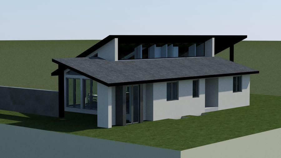 Architecture House EU royalty-free 3d model - Preview no. 2