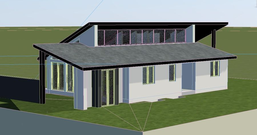 Architecture House EU royalty-free 3d model - Preview no. 5
