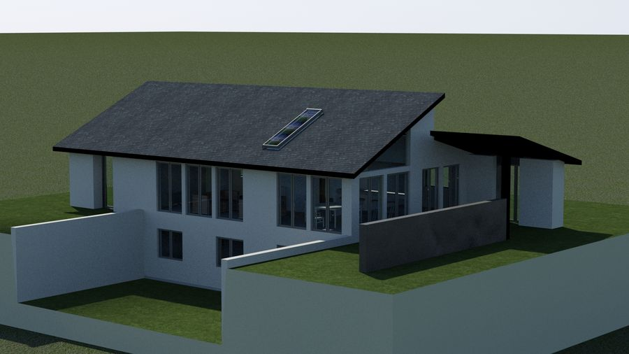 Architecture House EU royalty-free 3d model - Preview no. 3