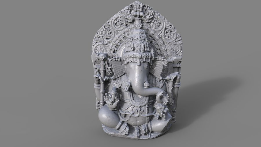 Ganesha royalty-free 3d model - Preview no. 6
