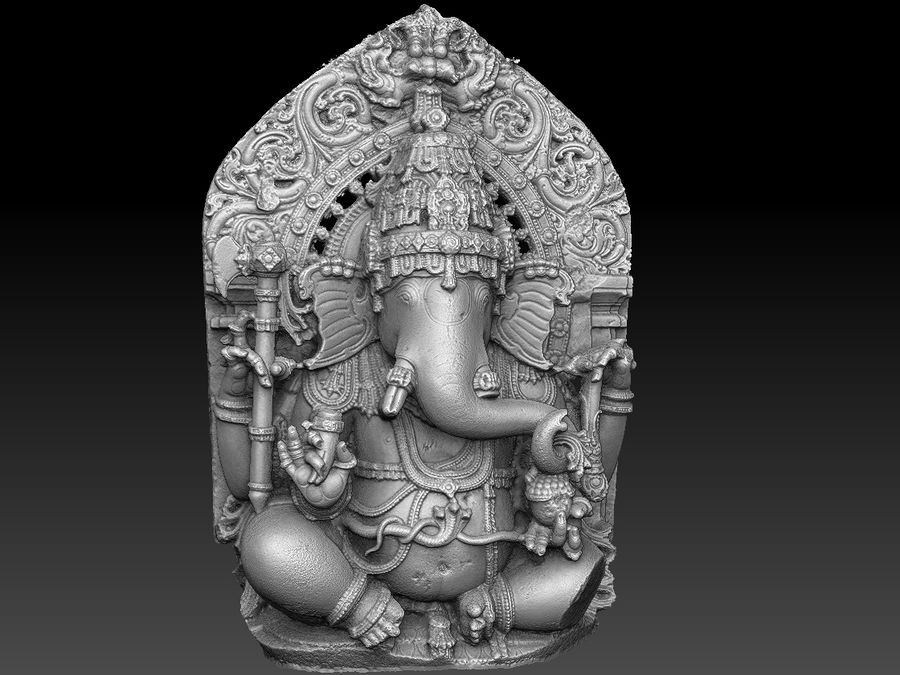 Ganesha royalty-free 3d model - Preview no. 11