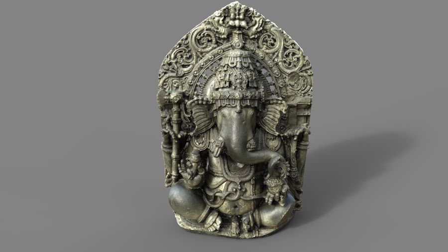 Ganesha royalty-free 3d model - Preview no. 5