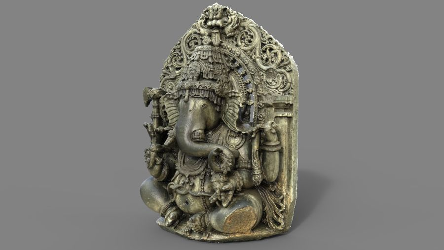 Ganesha royalty-free 3d model - Preview no. 7