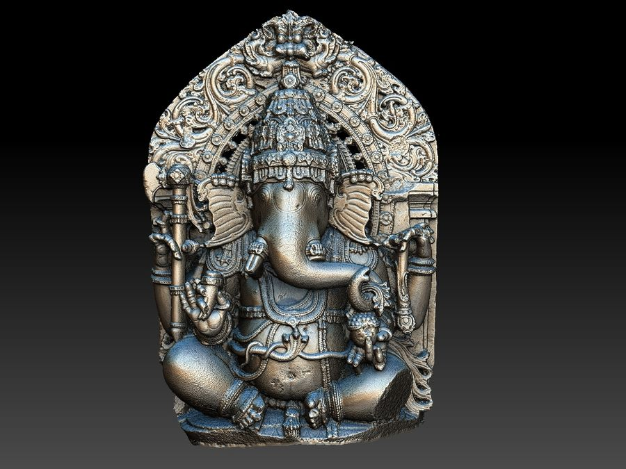 Ganesha royalty-free 3d model - Preview no. 15