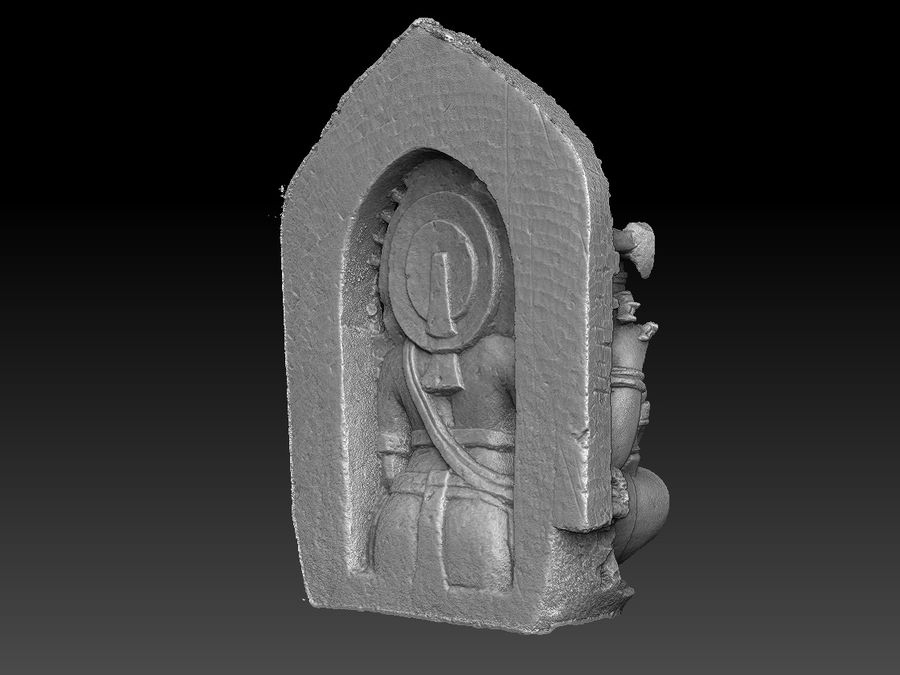 Ganesha royalty-free 3d model - Preview no. 14