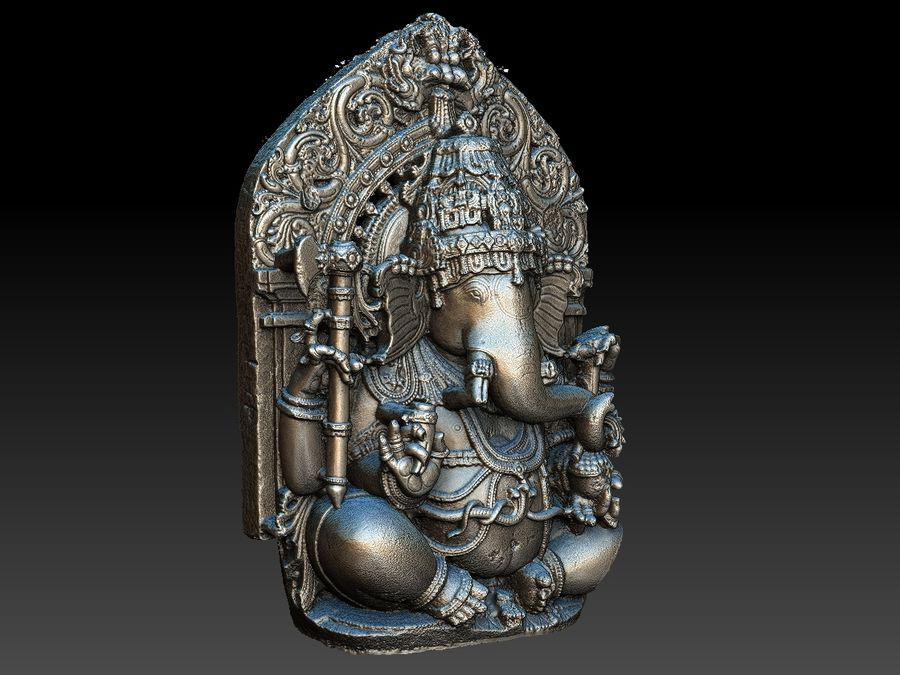 Ganesha royalty-free 3d model - Preview no. 17