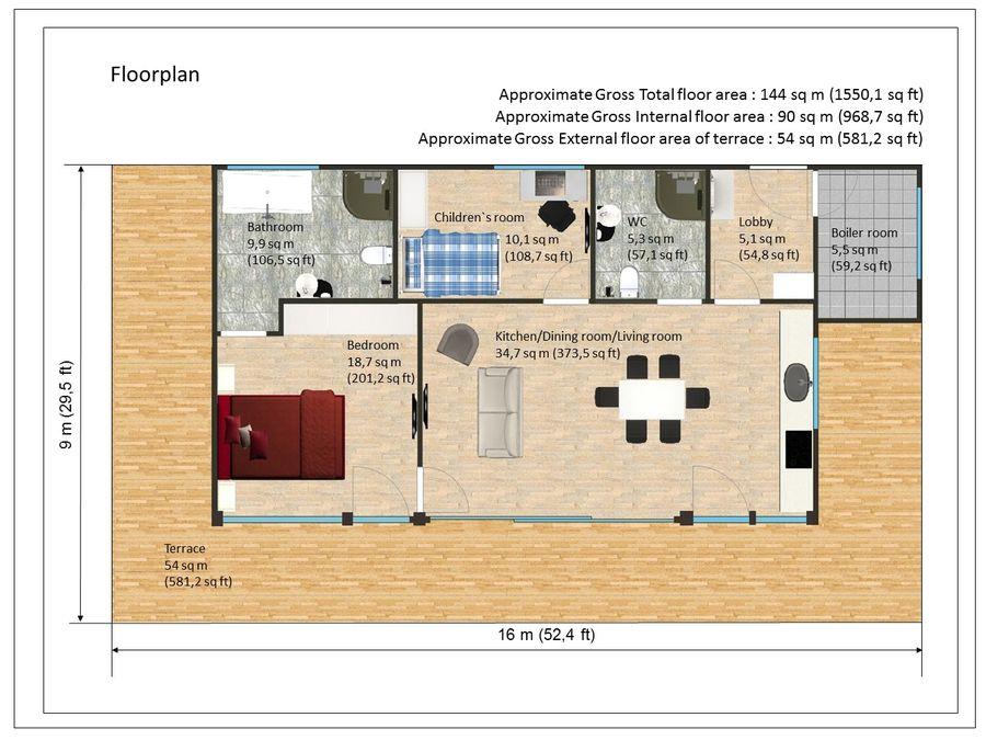 Modern House 144 Sq M 3d Model 20 Max Unknown Dwg Free3d