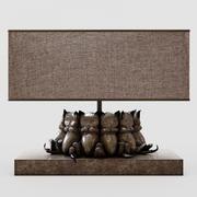 Sleeping cats table lamp 3d model