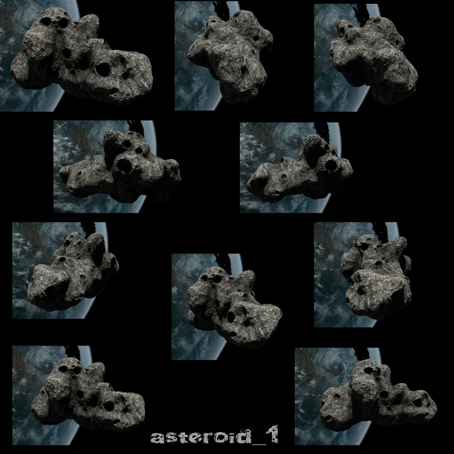 Conjunto de asteroides royalty-free modelo 3d - Preview no. 3