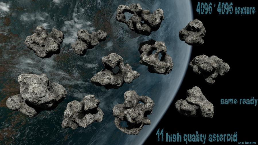 Conjunto de asteroides royalty-free modelo 3d - Preview no. 1