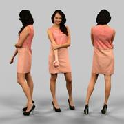 ピンクのドレスの女の子 3d model