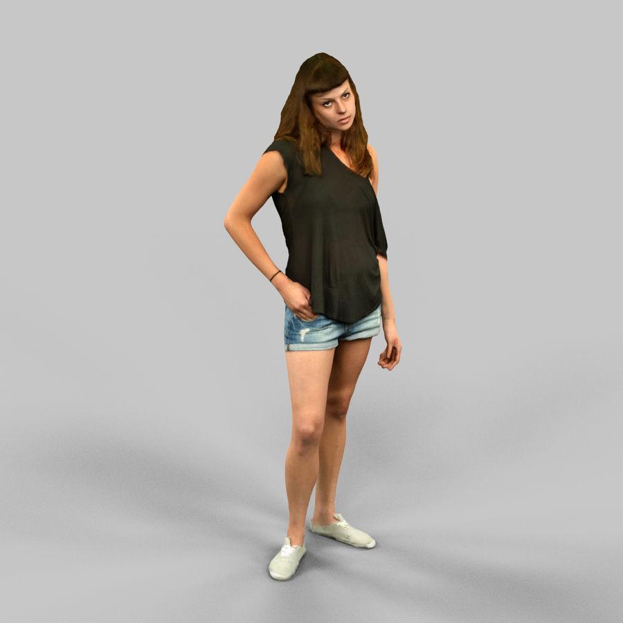 짧은 청바지 소녀 royalty-free 3d model - Preview no. 2