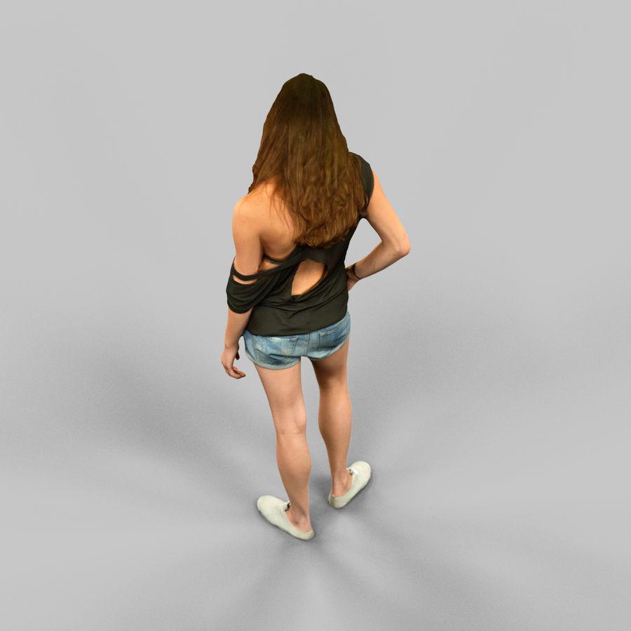 짧은 청바지 소녀 royalty-free 3d model - Preview no. 6