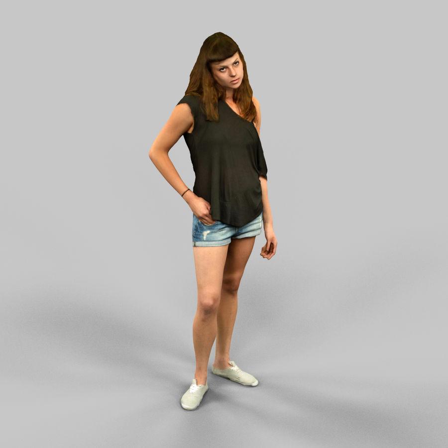 짧은 청바지 소녀 royalty-free 3d model - Preview no. 4