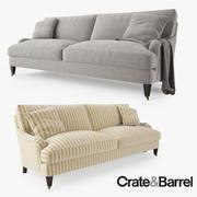 Crate and Barrel Essex Sofa z kółkami 3d model