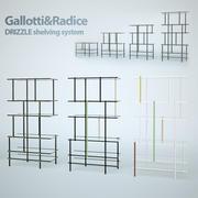 Sistema de estanterías DRIZZLE de Gallotti & Radice modelo 3d