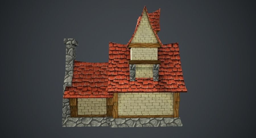 Masal Evi royalty-free 3d model - Preview no. 9