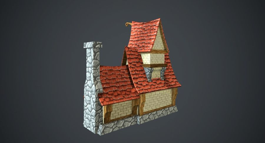 Masal Evi royalty-free 3d model - Preview no. 5