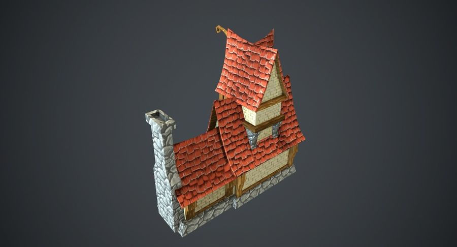 Masal Evi royalty-free 3d model - Preview no. 7