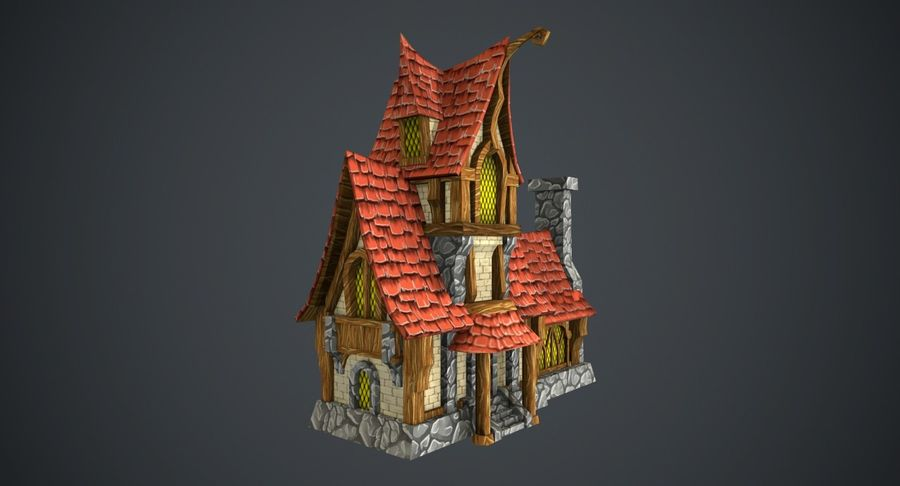 Masal Evi royalty-free 3d model - Preview no. 3