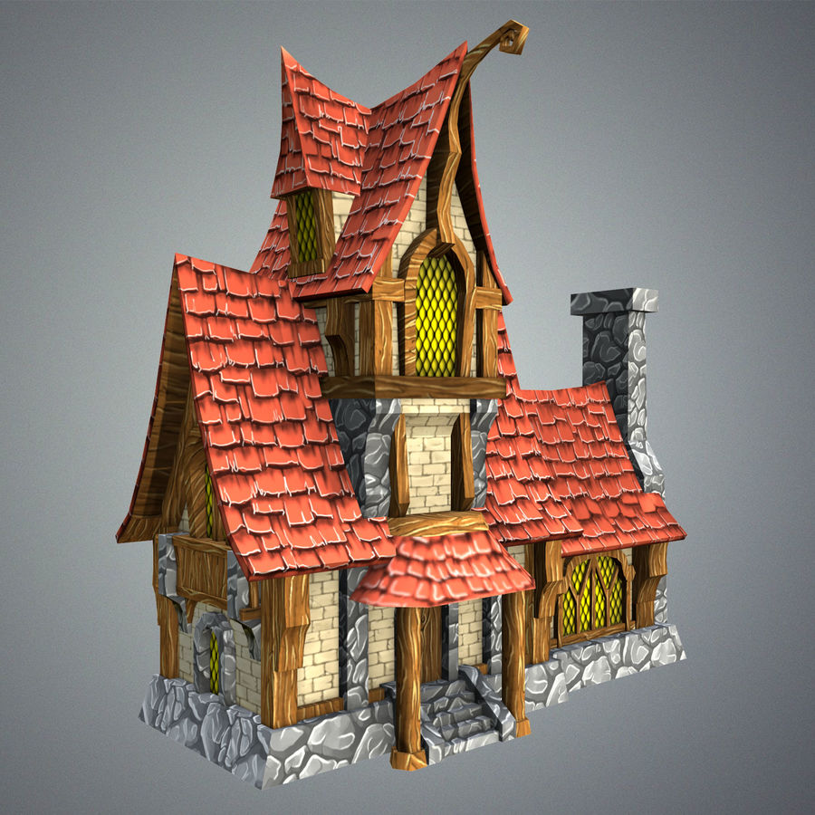 Masal Evi royalty-free 3d model - Preview no. 1