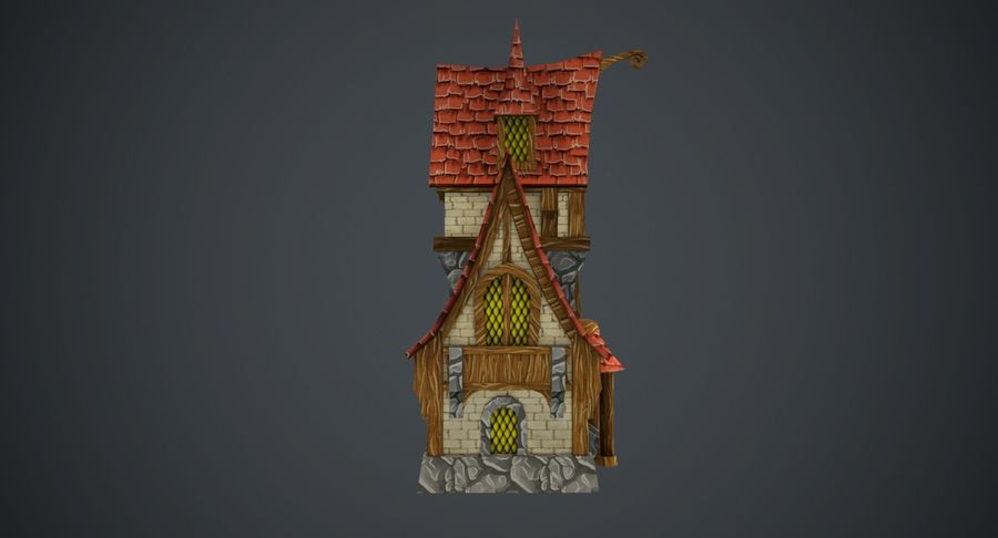 Masal Evi royalty-free 3d model - Preview no. 8