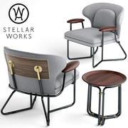 Кресло STELLAR WORKS 3d model