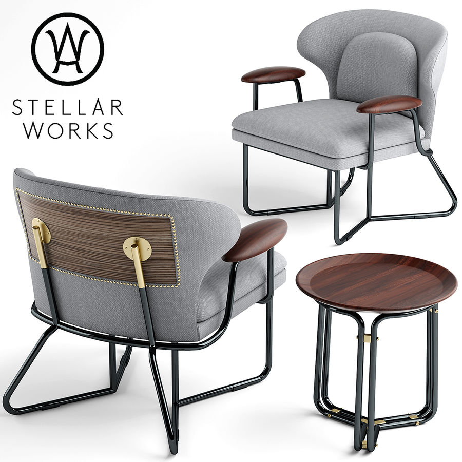 Poltrona STELLAR WORKS royalty-free 3d model - Preview no. 1