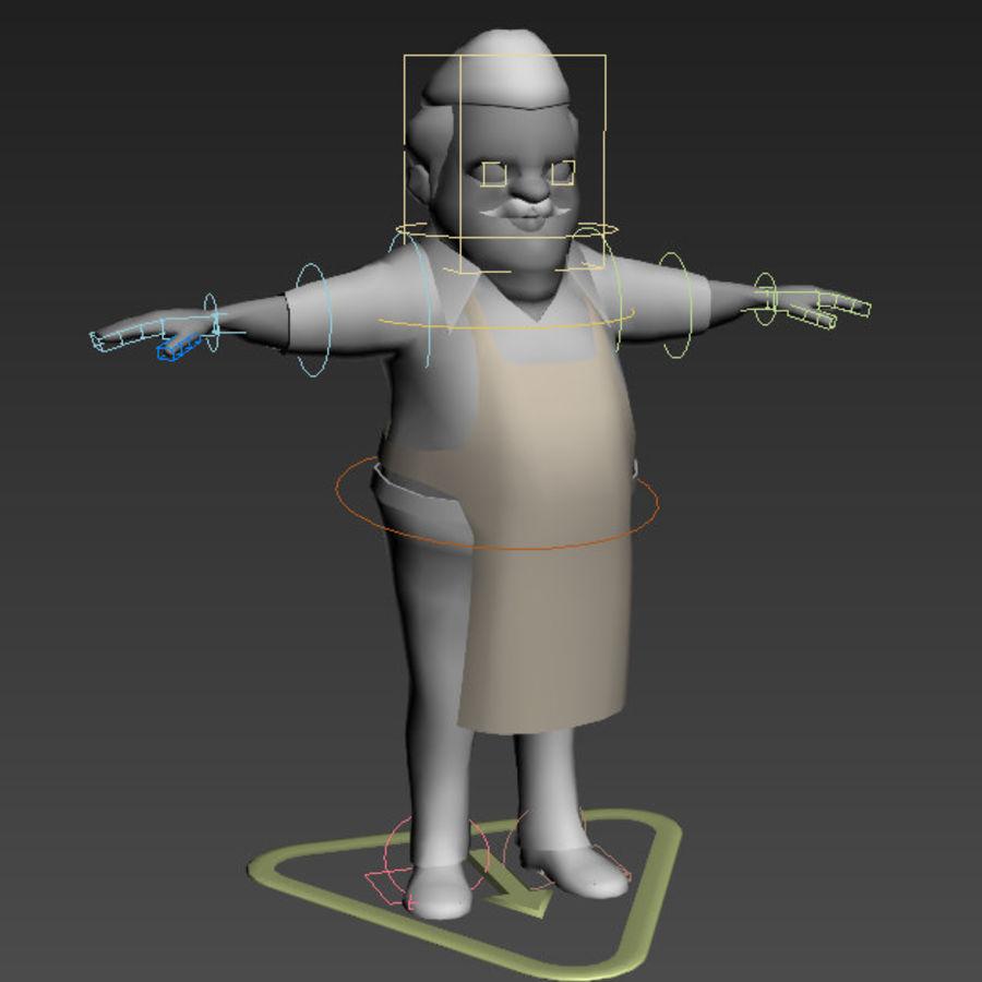 Низкополигональные персонажи royalty-free 3d model - Preview no. 10
