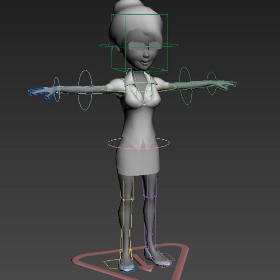 Низкополигональные персонажи royalty-free 3d model - Preview no. 20