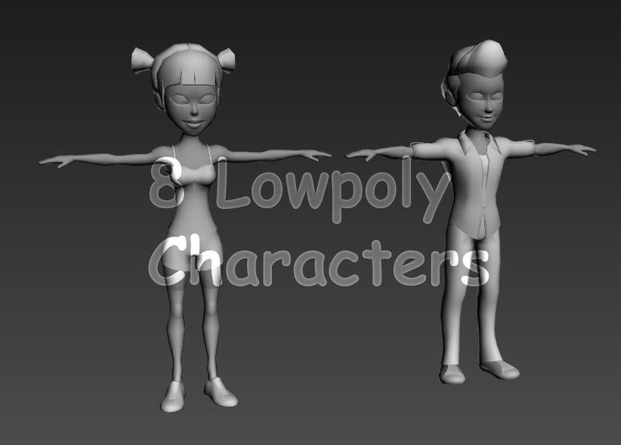 Низкополигональные персонажи royalty-free 3d model - Preview no. 1