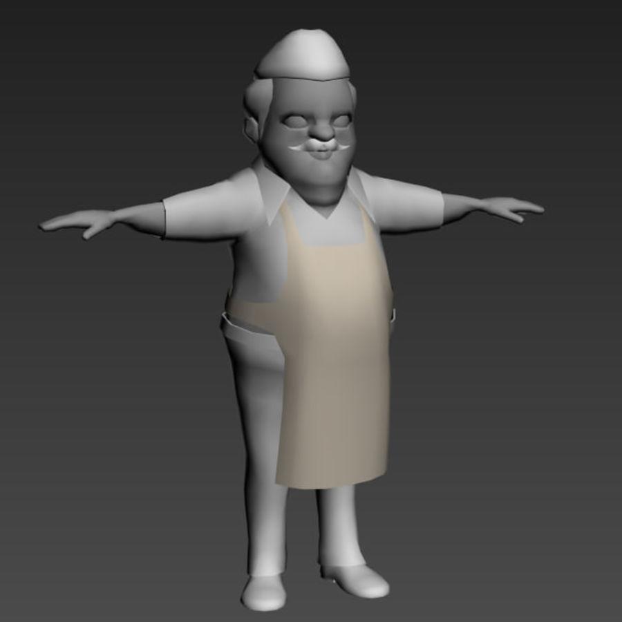 Низкополигональные персонажи royalty-free 3d model - Preview no. 8