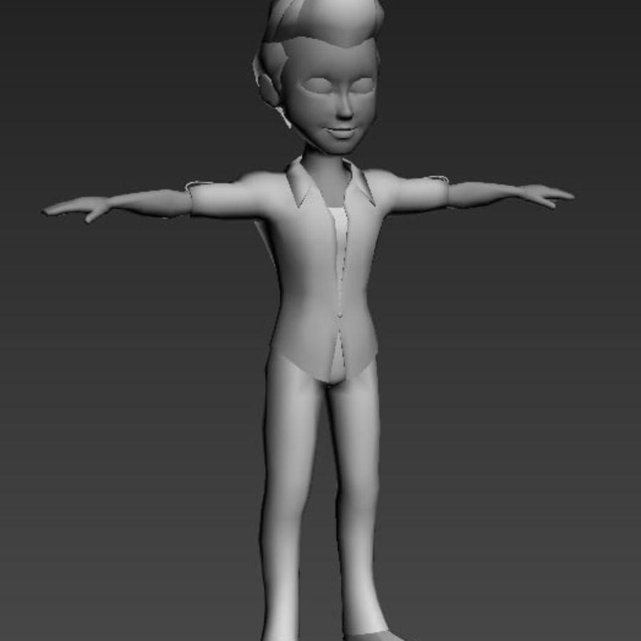 Низкополигональные персонажи royalty-free 3d model - Preview no. 11
