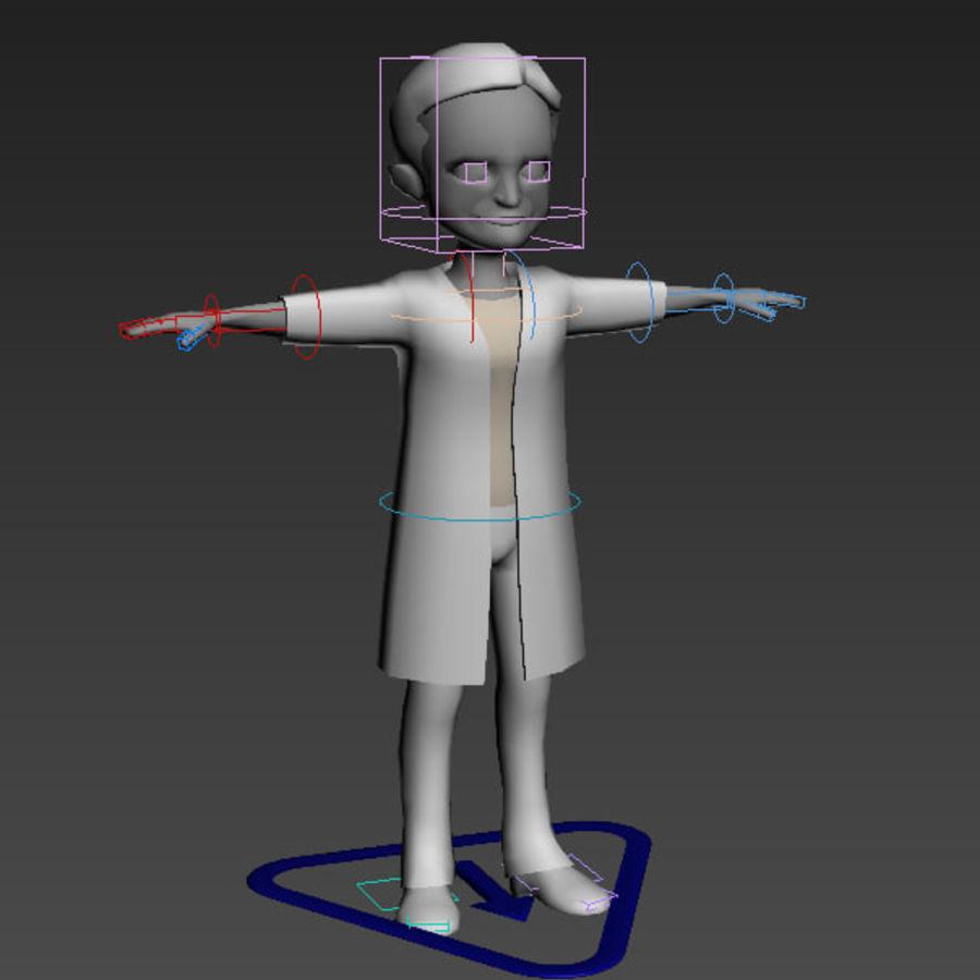 Низкополигональные персонажи royalty-free 3d model - Preview no. 7