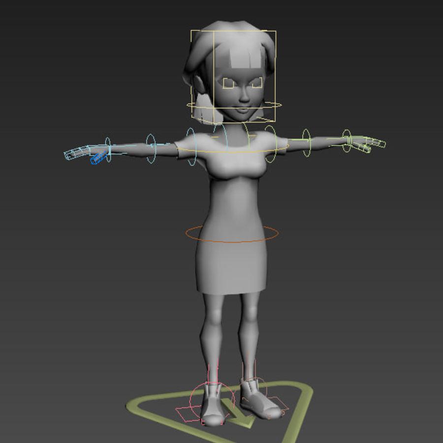 Низкополигональные персонажи royalty-free 3d model - Preview no. 26
