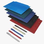 Typ omslag & penna Alla 5 färger 3d model
