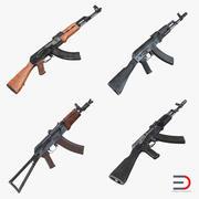 Assault Rifle AK 3D Models Collection 3d model