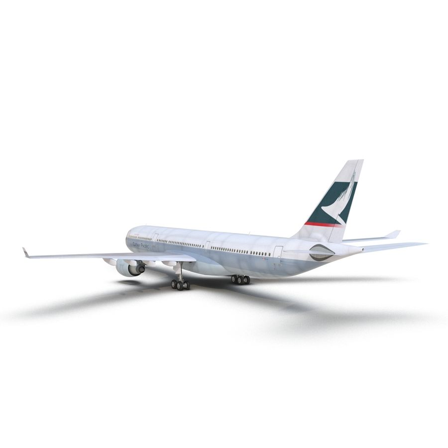 Jet Uçağı Airbus A330-300 Cathay Pacific royalty-free 3d model - Preview no. 14