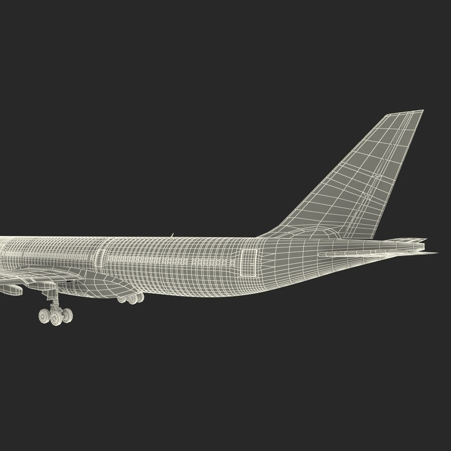 Jet Uçağı Airbus A330-300 Cathay Pacific royalty-free 3d model - Preview no. 45
