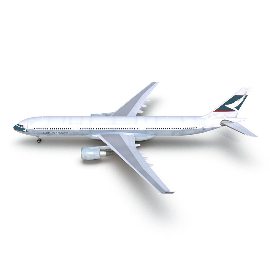 Jet Uçağı Airbus A330-300 Cathay Pacific royalty-free 3d model - Preview no. 12