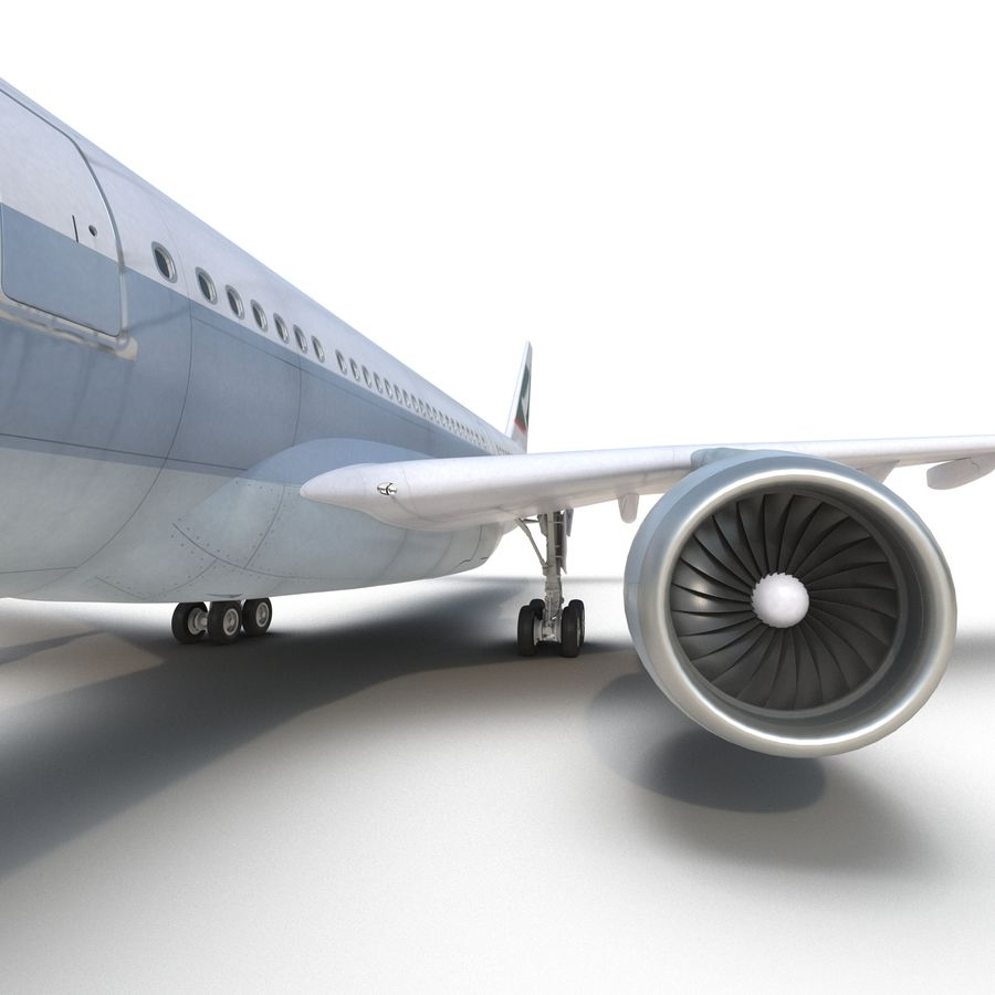 Jet Uçağı Airbus A330-300 Cathay Pacific royalty-free 3d model - Preview no. 35
