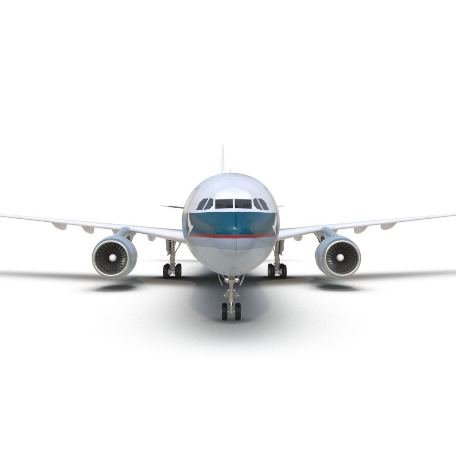Jet Uçağı Airbus A330-300 Cathay Pacific royalty-free 3d model - Preview no. 23
