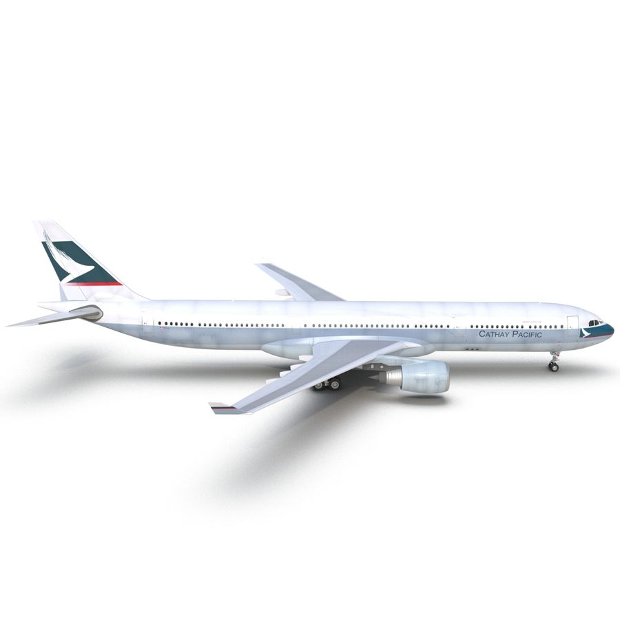 Jet Uçağı Airbus A330-300 Cathay Pacific royalty-free 3d model - Preview no. 16