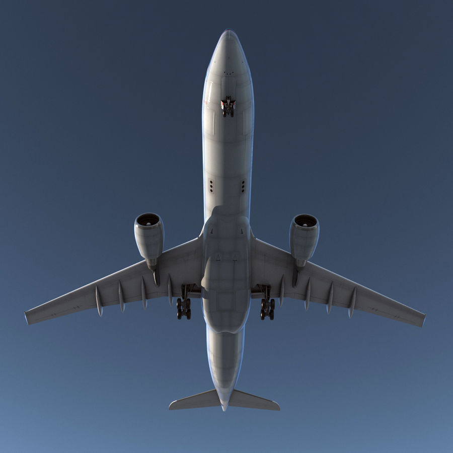 Jet Uçağı Airbus A330-300 Cathay Pacific royalty-free 3d model - Preview no. 8