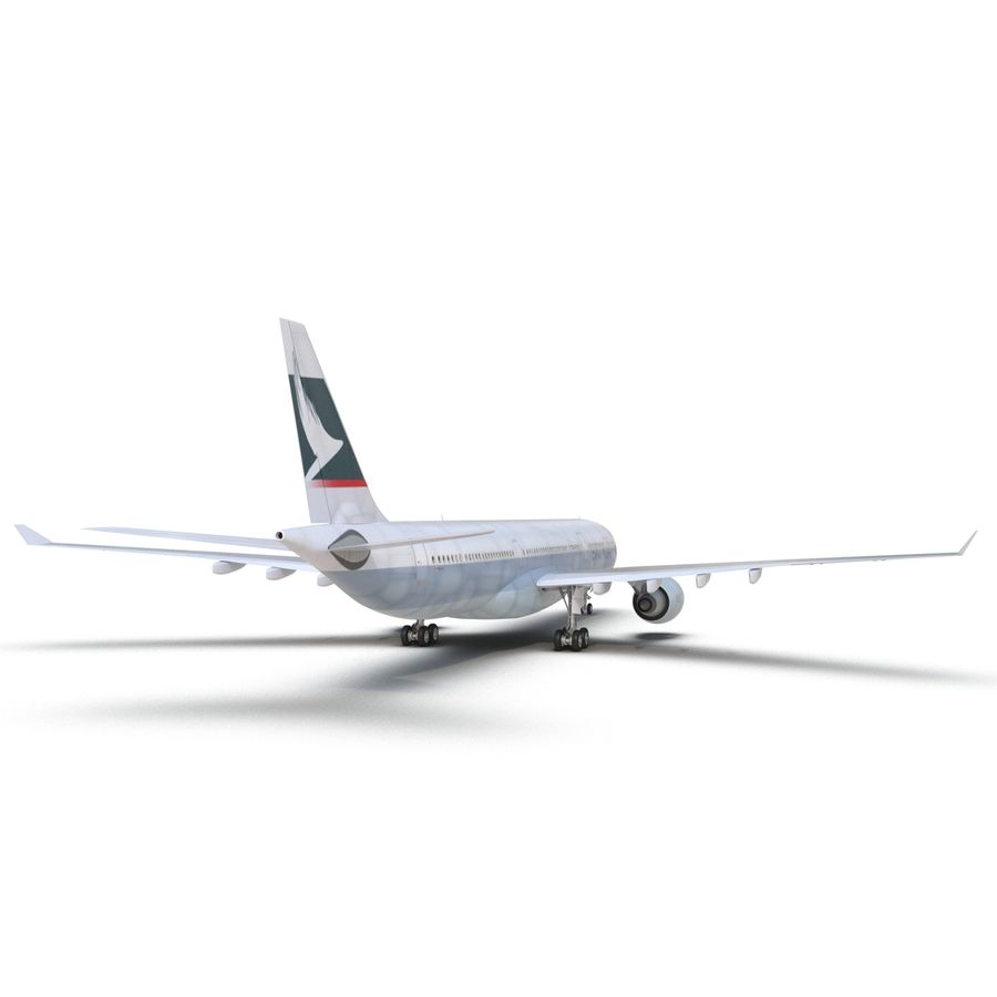 Jet Uçağı Airbus A330-300 Cathay Pacific royalty-free 3d model - Preview no. 20