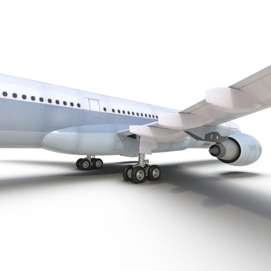 Jet Uçağı Airbus A330-300 Cathay Pacific royalty-free 3d model - Preview no. 33