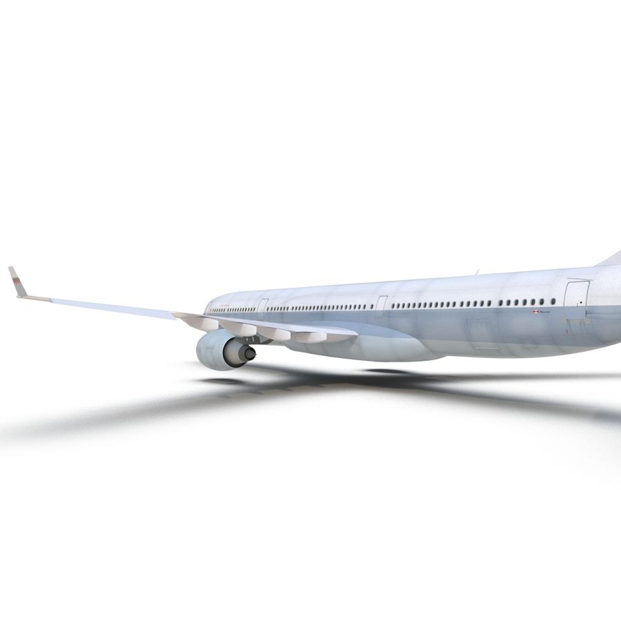 Jet Uçağı Airbus A330-300 Cathay Pacific royalty-free 3d model - Preview no. 28