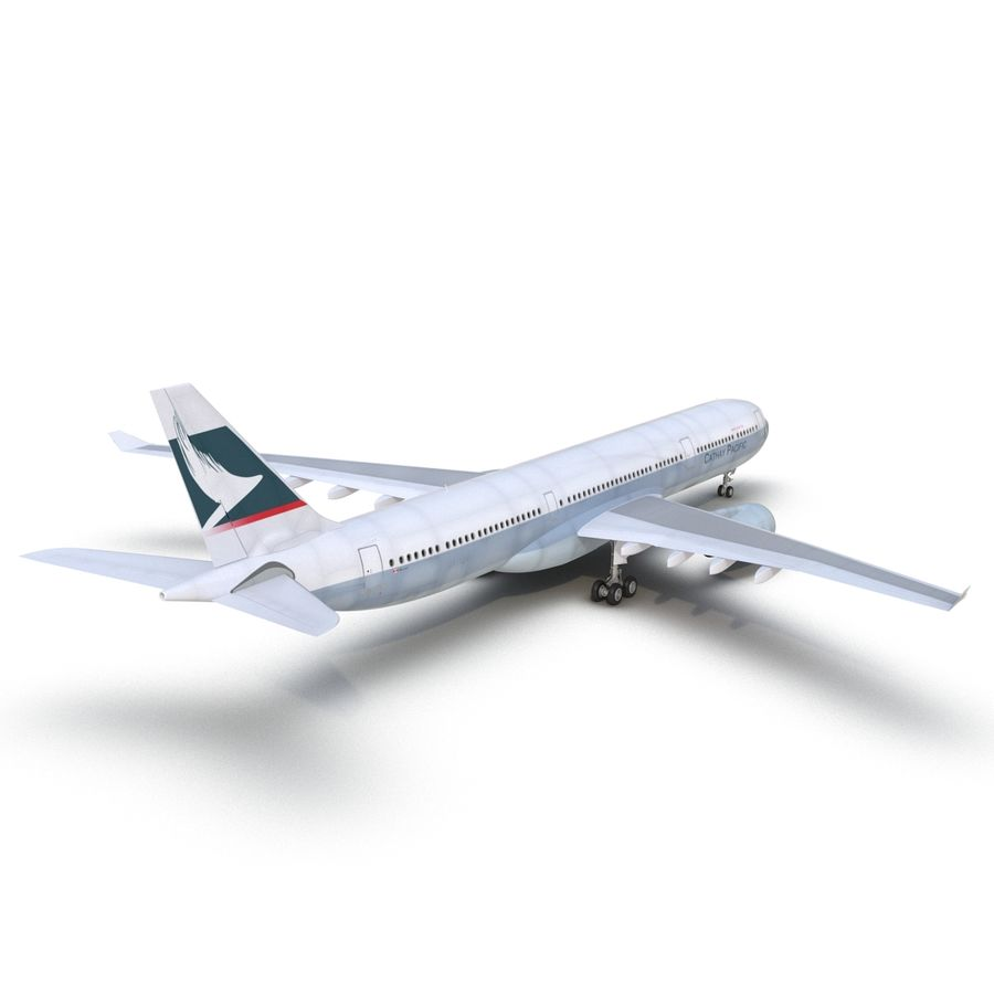 Jet Uçağı Airbus A330-300 Cathay Pacific royalty-free 3d model - Preview no. 15